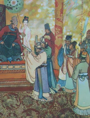 午夜剧场七夕第1209页-唐太宗当上皇帝不久,有人投其所好,给他进献了一张弓.唐太宗试了