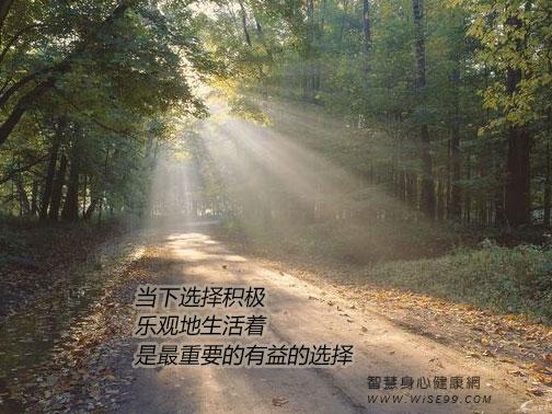 当下选择积极乐观地生活着,是最重要的有益的选择