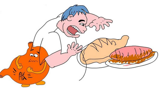 有些人经常暴饮暴食,或者过食寒凉,最终伤害脾胃